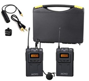 Movo WMIC70 Wireless 48-Channel UHF Lavalier Microphone System with Omni-Lav