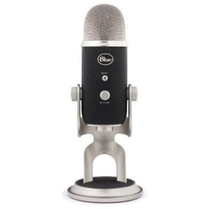 Blue Yeti condenser microphone for vocals
