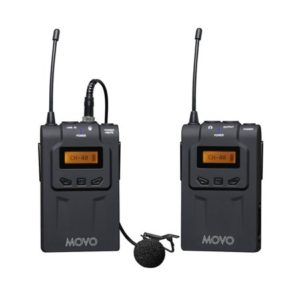 Movo WMIC70 Wireless 48-Channel UHF Lavalier Microphone