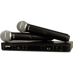 Shure BLX288 PG58 Wireless Vocal Combo with PG58 Handheld Microphones