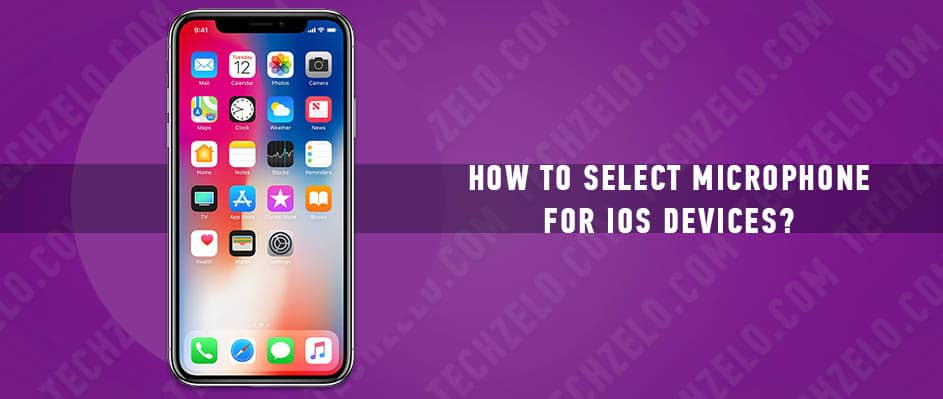 How to select microphone for iOS devices