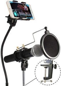 VIMVIP 3-in-1 Cell Phone & Microphone Stand